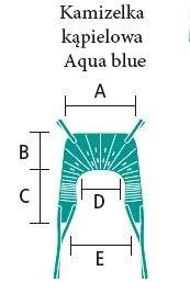 kamizelka aqua blue aks wymiary